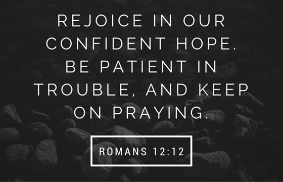 Keep on praying